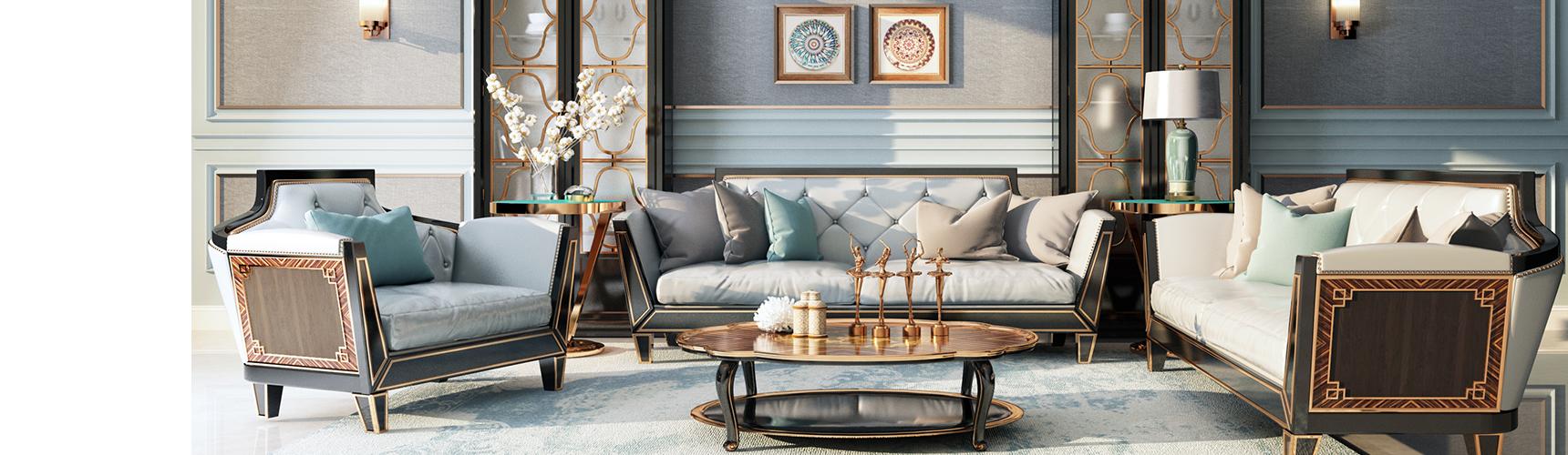 现代沙发茶几组合 橱柜 壁灯 挂画3D模型下载