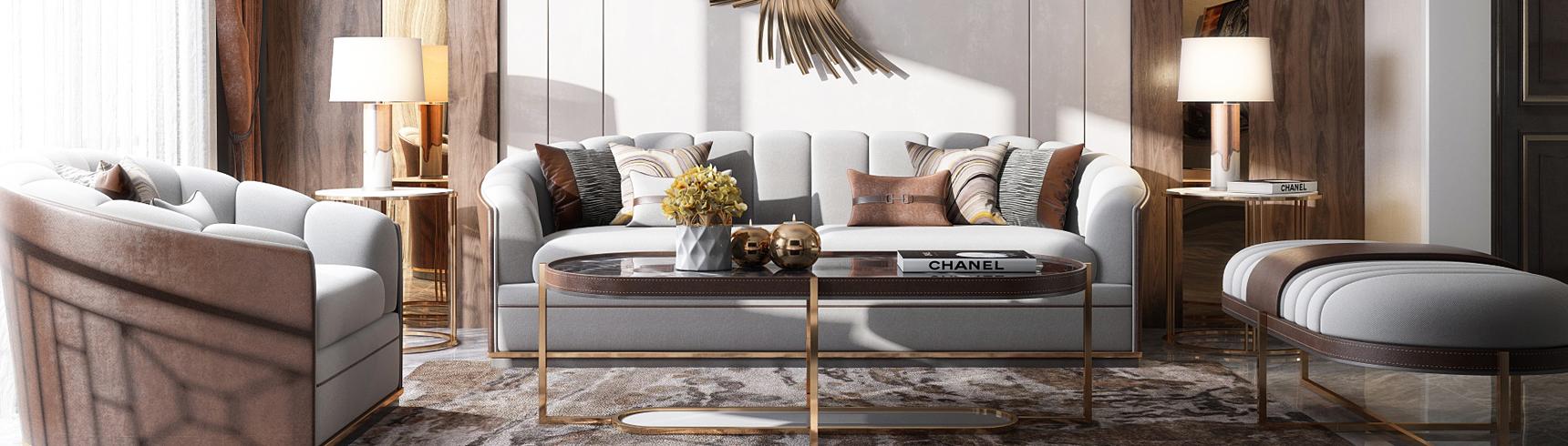 现代客厅 电视柜 沙发茶几组合 吊灯 壁灯 窗帘3D模型下载