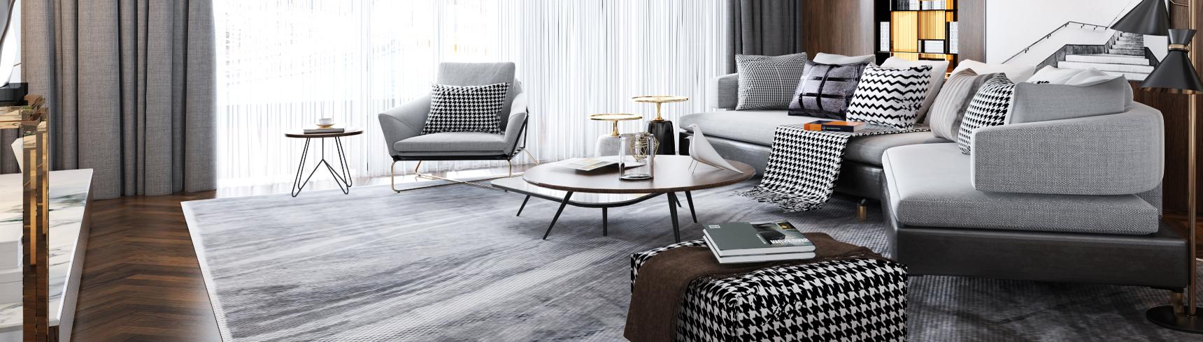 现代客餐厅 现代沙发椅组合 现代餐桌椅组合3D模型下载
