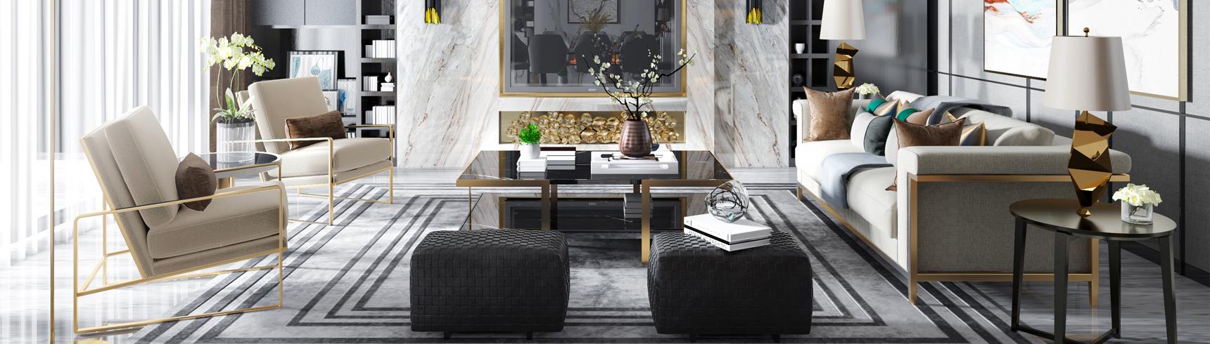 现代客厅 现代餐厅 现代沙发组合3D模型下载